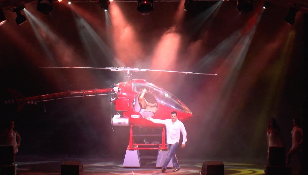OLMAC et son hélicoptère
