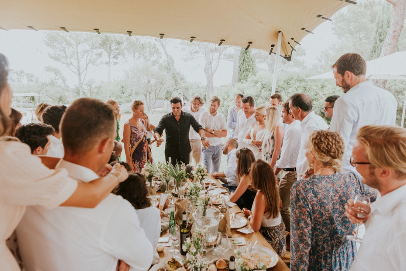 OLMAC en show à un mariage