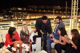 Monaco yacht club cocktail party
