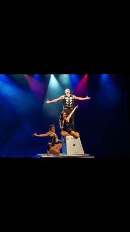 Grand illusion on stage